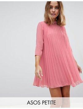 Asos Petite Pleated Trapeze Mini Dress by Asos Petite