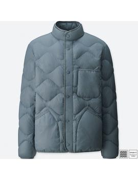 Men U เสื้อblouson Uld ขนเป็ด Compact by Uniqlo