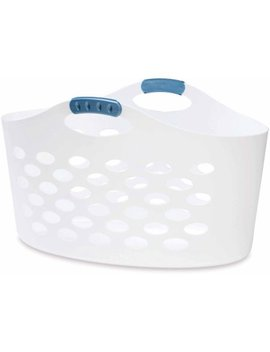 Rubbermaid Flex'n Carry Basket, White by Rubbermaid