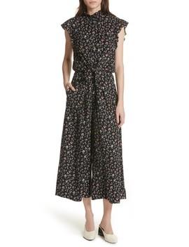 Floral Vine Silk Jumpsuit by Rebecca Taylor