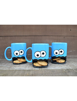 Personalized Googly Eyed Monster Dunk Mug   Ceramic Cookie And Milk Mug   Custom Add A Name / Message   Made To Order by Etsy