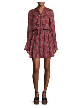Elizavetta Long Sleeve Printed Mini Dress by Alexis