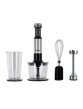 Tenergy Immersion Blender, 200 W Multi Speed Food Mixer Set With Stainless Steel Hand Blender, Chopper, Whisk, Beaker Attachment For Soup, Sauce, Baby Food, Purée And Emulsify by Tenergy
