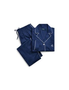 Cotton Blend Sateen Pajama Set by Ralph Lauren