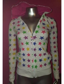 Abbey Dawn By Avril Lavigne Rainbow Star Hoodie Sweater Pink White Size Medium by Abbey Dawn