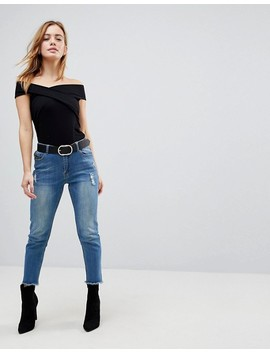 Asos Petite Top With Wrap Front by Asos Petite