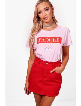 Lauren J'adore T Shirt by Boohoo