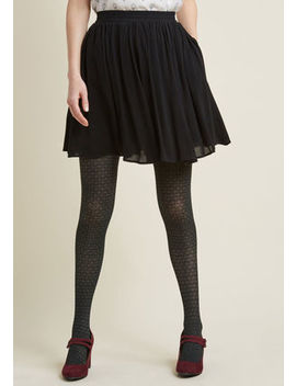 Swingy Mini Skirt With Pockets In Black Swingy Mini Skirt With Pockets In Black by Modcloth