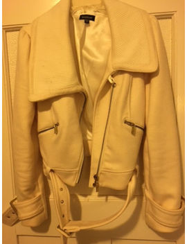 Women Wool Jacket From Bebe .Light Beige Color, M Size,Cropped Style by Bebe