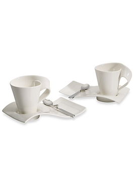 Villeroy &Amp; Boch New Wave Cafe Set Service For Two by Bed Bath And Beyond