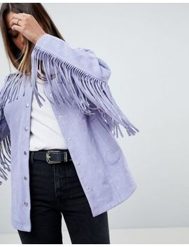 Asos Fringe Suede Jacket by Asos Collection