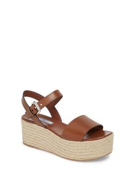 Platform Espadrille Sandal by Prada
