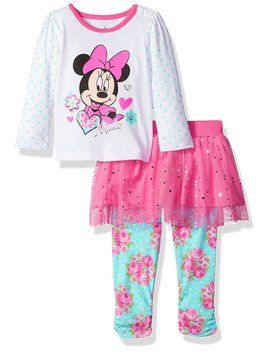 Disney Baby Girls' Minnie Mouse 2 Piece Rose Long Sleeve Skegging Set by Disney