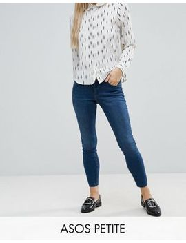 Asos Petite Whitby Low Rise Skinny Jeans In Abbie Wash by Asos Collection