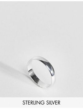 Asos Design Sterling Silver Sleek Thick Band Ring by Asos Design