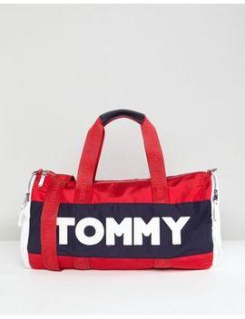 Tommy Hilfiger Logo Colour Block Nylon Barrel Holdall by Tommy Hilfiger