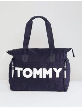Tommy Hilfiger Logo Nylon Tote by Tommy Hilfiger