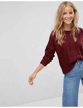 Pull&Bear Cable Knit Basic Jumper by Pull&Bear