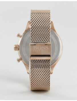 Boss By Hugo Boss 1513548 Companion Chronograph Mesh Watch In Rose Gold by Hugo By Hugo Boss
