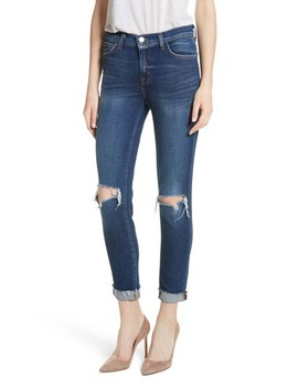 Rachel Ripped Crop Slim Fit Jeans by L'agence