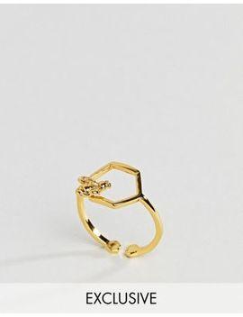 Bill Skinner Hexagon Open Ring by Bill Skinner