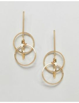 Pieces Drop Multi Hoop Earring by Pieces