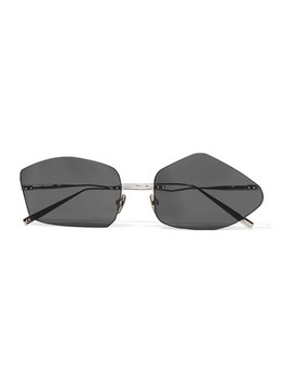 Giel Square Frame Silver Tone Sunglasses by Acne Studios