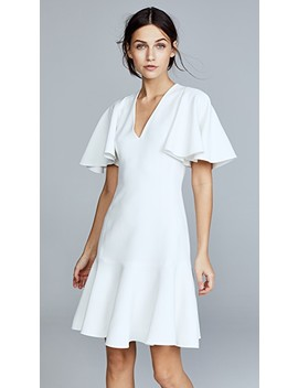 V Neck Short Sleeve Dress by Giambattista Valli