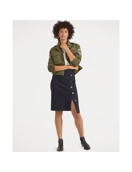 Button Trim Pencil Skirt by Ralph Lauren
