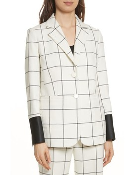 Holt Windowpane Plaid Blazer by Tory Burch