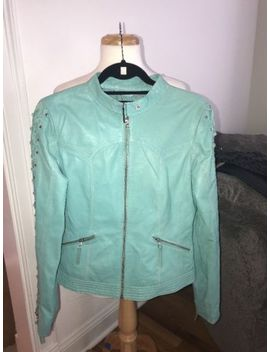 Overland Leather Jacket Size Small Turquoise by Overland