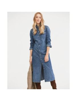 Denim Western Shirtdress by Ralph Lauren