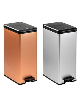 Curver 40 Liter Slim Metallic Trash Can by Bed Bath And Beyond