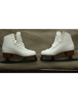 &Nbsp;Riedell Modell 112w White Womens Figure Skates Size 5 Slightly Used by Riedell