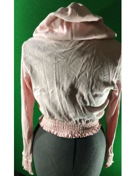 Bebe Pink/Peach Crop Hoodie Jacket Size Large by Bebe