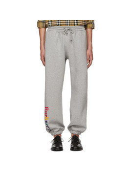 Grey Rainbow Lounge Pants by Burberry