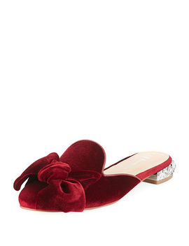Smith Flat Velvet Mule by Neiman Marcus