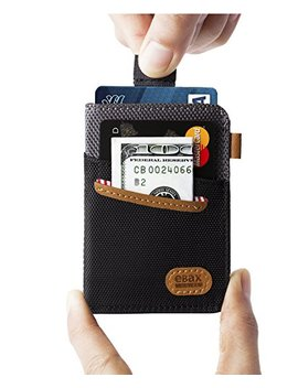 Ebax Minimalist Slim Wallet New Idea Front Pocket Card Holder With Cash & Key by Ebax