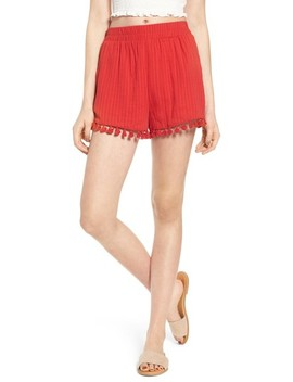 Pompom Trim Shorts by Moon River