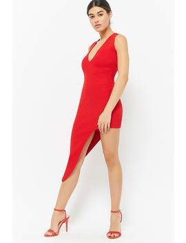 Ribbed Asymmetrical Dress by F21 Contemporary