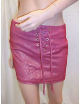 Sauvage Pink Lace Up Cover Up Skirt Large 2357 L by Sauvage