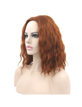 Soowee Synthetic Hair Burgundy Cosplay Wig Curly Short Women Hairpiece Party False Hair Wigs Wigs Female For Women by Yiwu Headwear Store