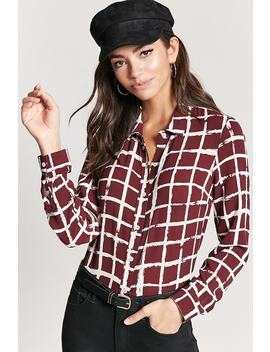 Crepe Grid Shirt by Forever 21