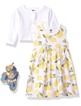 Hudson Baby Baby Girls' 3 Piece Dress, Cardigan, Shoe Set by Hudson Baby