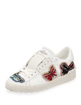 Open Butterfly Platform Sneaker by Valentino Garavani