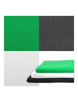 1x1.5m/39x59in Photography Studio Flocked Fabric Background Screen Backdrop For Black White Green by Forreste Store