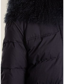Mongolian Fur Lined Padded Coat by Mr & Mrs Italy