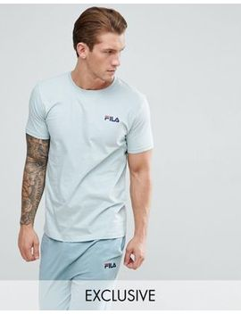 Fila Vintage Lounge T Shirt With Logo In Green by Fila Vintage