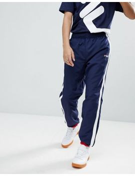 Fila Black Line Joggers With Taping In Navy by Fila