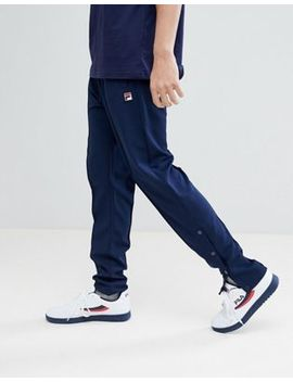 Fila Vintage Track Joggers With Poppers In Navy by Fila